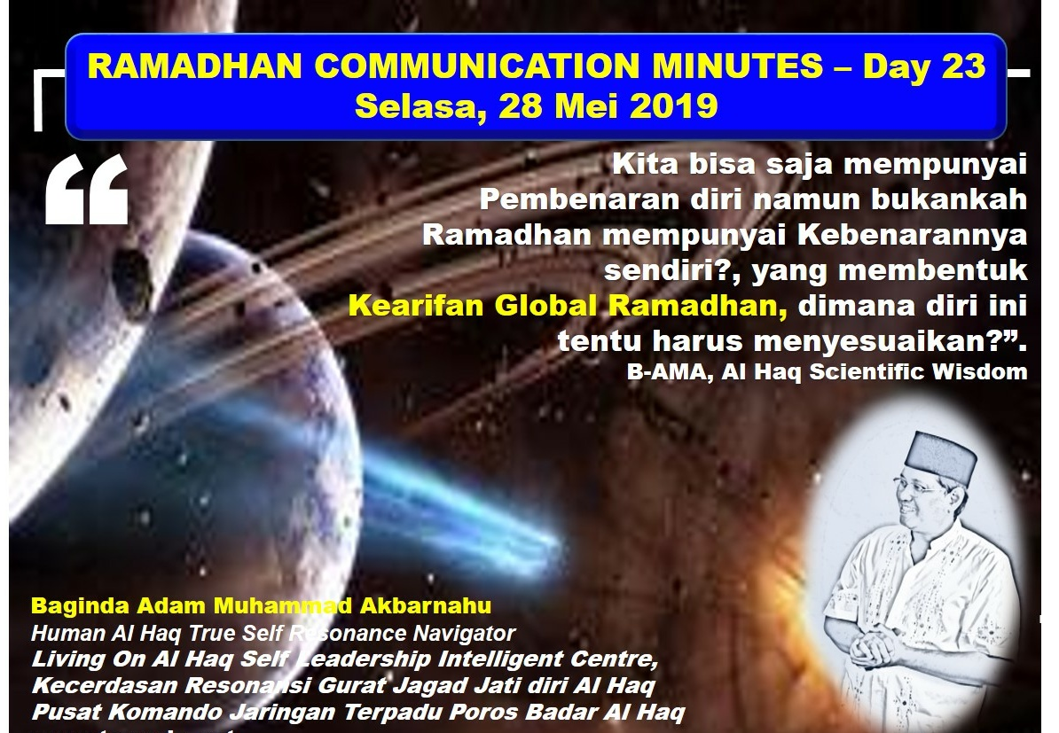 RAMADHAN 2019 – 1440H COMMUNICATION MINUTES, Day 23
