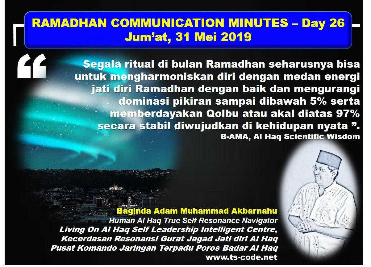 RAMADHAN 2019 – 1440H COMMUNICATION MINUTES, Day 26
